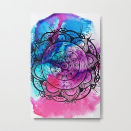 Mandala Art Metal Print