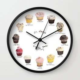 Cupcake Specimens Wall Clock