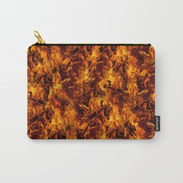 Fire and Flames Pattern Carry-All Pouch