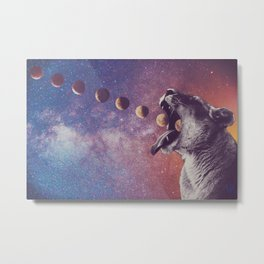 Lion and the Phase Metal Print