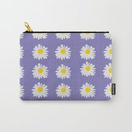Purple Daises Carry-All Pouch