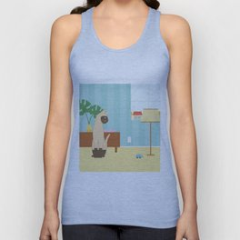Siamese Cat And Mouse Unisex Tank Top