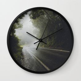 Foggy Road Wall Clock