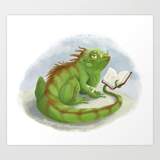 Intelligent Iguana Art Print
