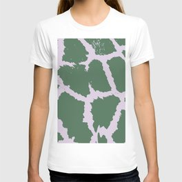 Giraffe pattern Green and pink T-shirt