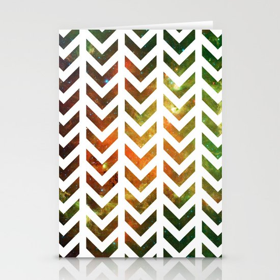 Nebula Chevrons Stationery Cards