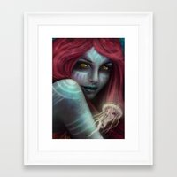 "ariel Framed Art Prints featuring ""Ariel"" by PeeGeeArts"