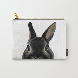 Netherland Dwarf rabbit Black, original painting by MiartDesignCreation Carry-All Pouch