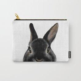 Netherland Dwarf rabbit Black, illustration original painting print Carry-All Pouch