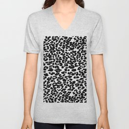 Medium Leopard Skin Print Unisex V-Neck