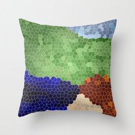 Gaudi´s garden Throw Pillow