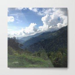 Mountain Clouds Metal Print