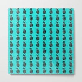 Pineapple Print Metal Print