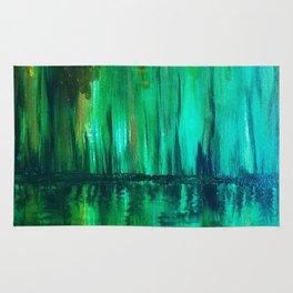 Green reflection Rug