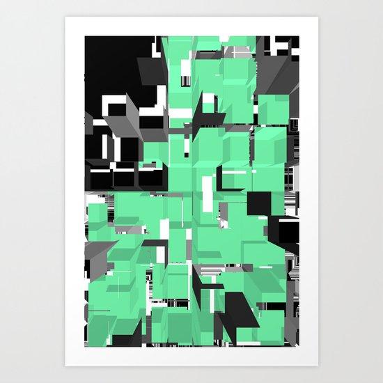 Digital Squares Art Print