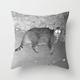 WTF Cat ! Throw Pillow