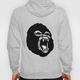 Angry gorilla head. Hoody