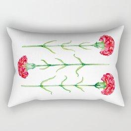 Carnations flowers watercolor art Rectangular Pillow