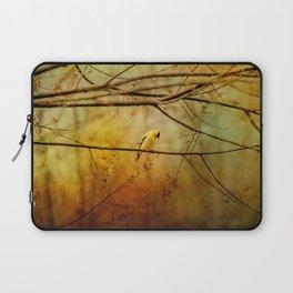 Yellow Songbird in Morning Prayer Laptop Sleeve