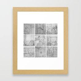 Cafe sketches, part one by David A Sutton. sketchbookexplorer.com Framed Art Print