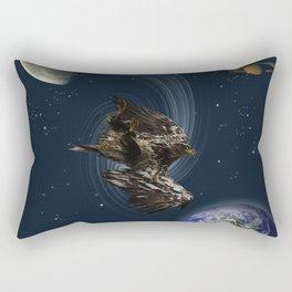 Freefalling Young Bald Eagle Rectangular Pillow