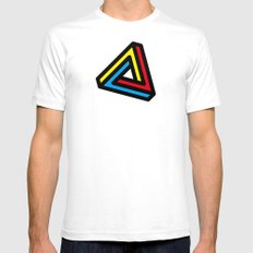 Mystic Triangle White SMALL Mens Fitted Tee