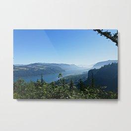Columbia River Overlook Metal Print
