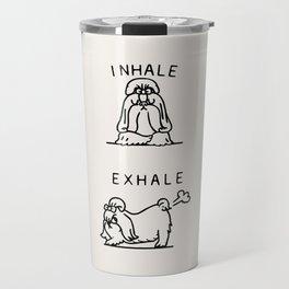 Inhale Exhale Shih Tzu Travel Mug