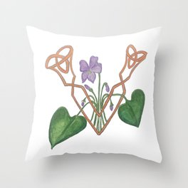 V is for Violet Throw Pillow