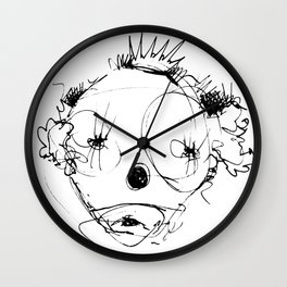 Clowns in Crowns #4 Wall Clock