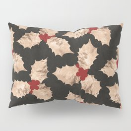 Christmas Gold and Red Holly Berry Pillow Sham