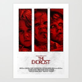 The Exorcist - Tryptich Art Print