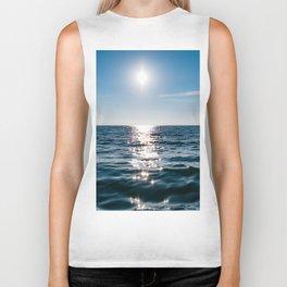 Sea Blue Sky sun Biker Tank