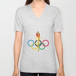 Olympic Rings Unisex V-Neck