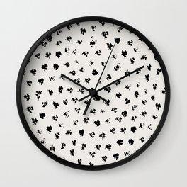 Polka Splotch Wall Clock