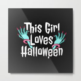girl halloween Metal Print