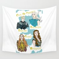 thrones Wall Tapestries featuring Game Of Thrones  by JessicaJaneIllustration