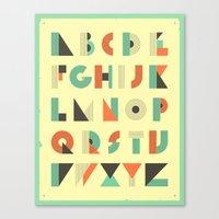 alphabet Canvas Prints featuring ALPHABET by Jazzberry Blue