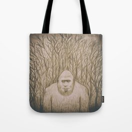 Sasquatch in the woods Tote Bag