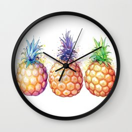 Three Pineapples Wall Clock