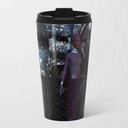 Alien City at Night Travel Mug