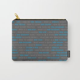 Web Design Keywords Background Carry-All Pouch