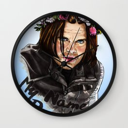 He's got flowers in his hair Wall Clock