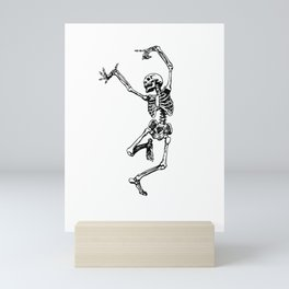 DANCING SKULL Mini Art Print