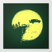 zombie Canvas Prints featuring Zombie Invasion by Picomodi