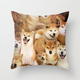 Shiba Inus Throw Pillow