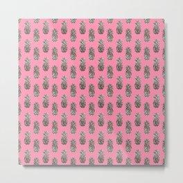 Baker Miller Pink Pineapples Metal Print