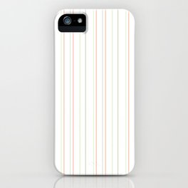 Pastel orange green watermelon modern stripes pattern iPhone Case