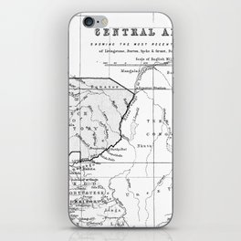 Black And White Vintage Map Of Africa iPhone Skin