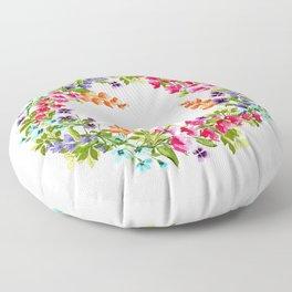Wildflower Queen Floor Pillow